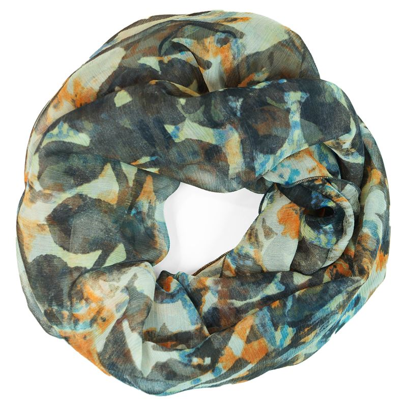 silk gray brown infinity scarf