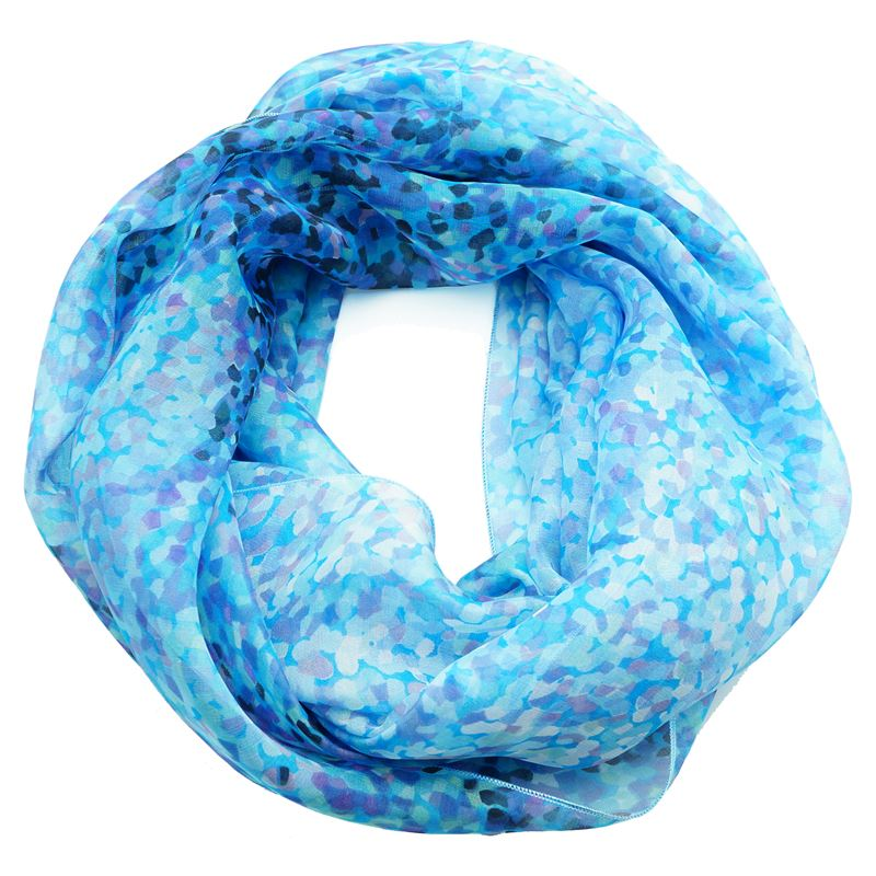 silk blue water infinity scarf