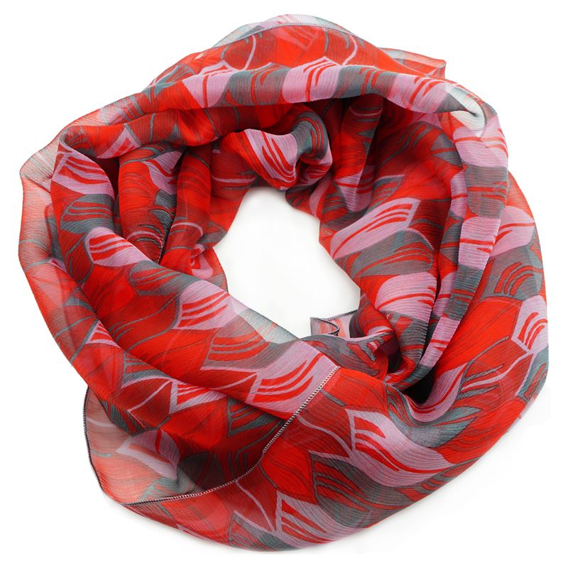 silk red infinity scarf
