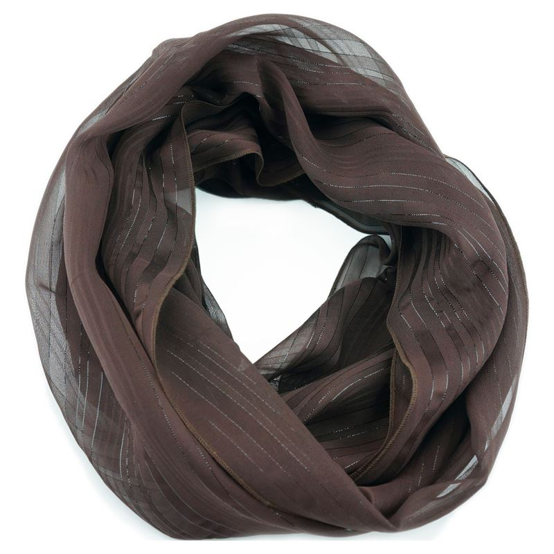 silk chocolate infinity scarf
