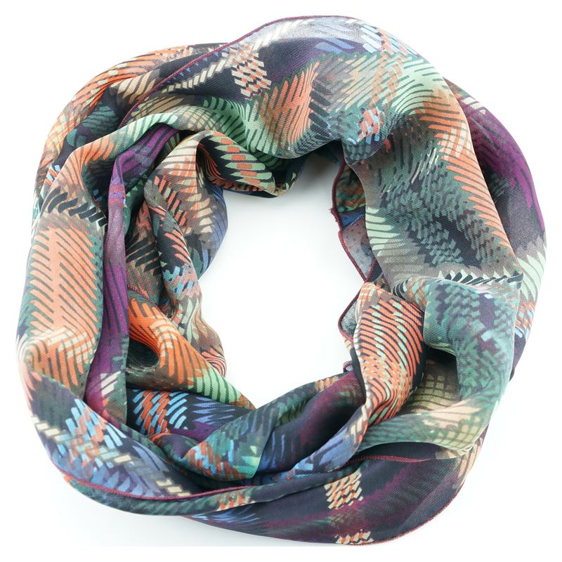 purple green orange blue infinity scarf